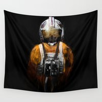 pilot Wall Tapestries featuring Pilot 03 by Rafal Rola