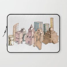 the city painted in pastel colours Laptop Sleeve
