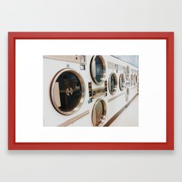 A day at the laundromat  Framed Art Print