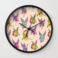 fairies Wall Clocks featuring Fairies by Elizabeth Kate