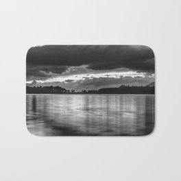 """Sunset After The Storm""  BW Bath Mat"