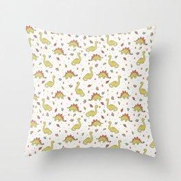 Jurrassic Plant-Eating Dinosaurs Throw Pillow