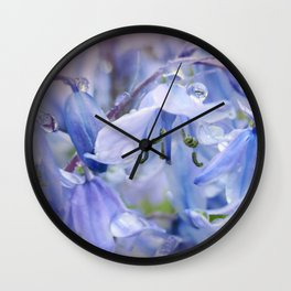 Bluebell Glade Wall Clock