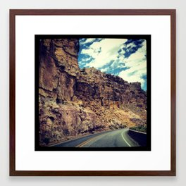 On our way to Santa Fe... Framed Art Print