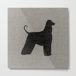 Afghan Hound Silhouette(s) Metal Print