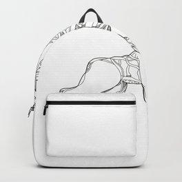 Wendigo Crouching Doodle Art Backpack