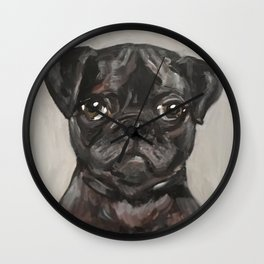 Art for Dog Lovers / Nursery Decor - Puggle Pup Wall Clock