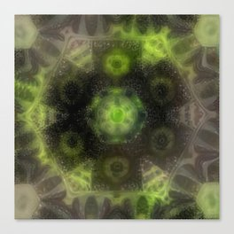 Kaleidoscope ZD Hazy Green Flower Canvas Print