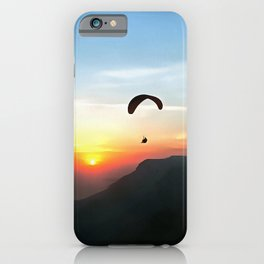 Sunset Paraglide iPhone Case