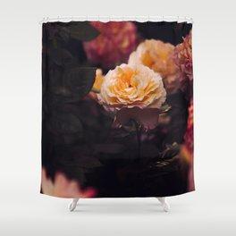 Bouquet Of Sunset Yellow orange Purple Flowers Shower Curtain