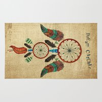 dream catcher Area & Throw Rugs featuring DREAM CATCHER by Heaven7