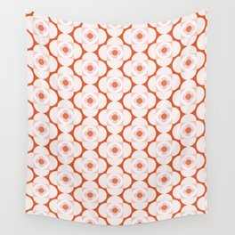Flower Shapes | Pinkish Wall Tapestry
