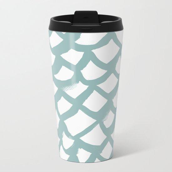 Pattern AQ86 Metal Travel Mug