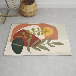 Two Abstract Branches Rug