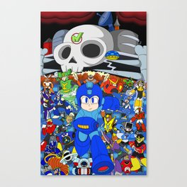 Fight Mega Man, For Everlasting Peace! Canvas Print