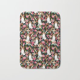 Beagle floral dog breed pattern pet gifts for beagle owners must have beagles Bath Mat