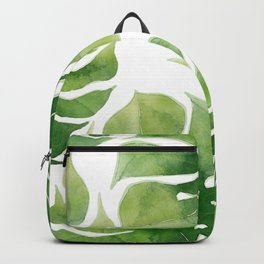 Monstera watercolor I Backpack