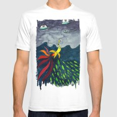 The Aventure of a Banana MEDIUM White Mens Fitted Tee