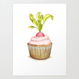 Radish cupcake Art Print