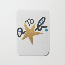 B FOR AGNES B - A STAR TO BE Bath Mat