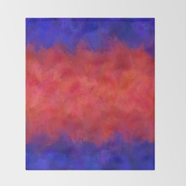 Red Pink Blue Color Explosion Abstract Throw Blanket
