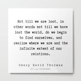59   | Henry David Thoreau Quotes  | 190715 | Metal Print