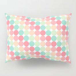 bubble gum polka dot stripes Pillow Sham