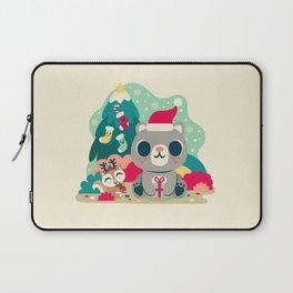 Holiday Woodland Bear / Cute Animal Laptop Sleeve