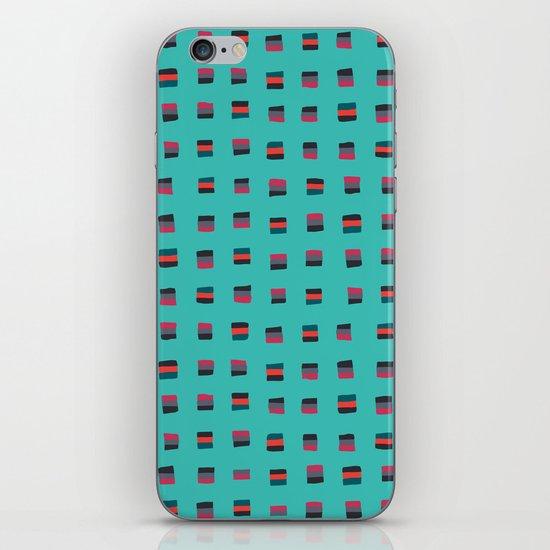 Pixel Pattern turquoise iPhone & iPod Skin