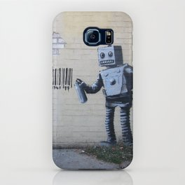 Banksy Robot (Coney Island, NYC) iPhone Case