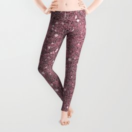 Maroon Glitter Leggings