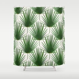 Simple Palm Leaf Geometry Shower Curtain