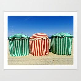 Beach Cabanas Trouville Art Print