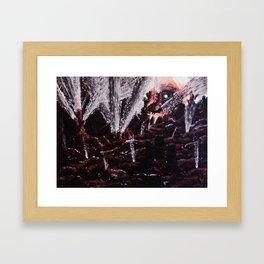 Dawn on the comet Framed Art Print