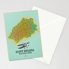 Saint Helena British Overseas Territory map Stationery Cards