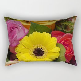 Elegant Spring Floral Bouquet Rectangular Pillow