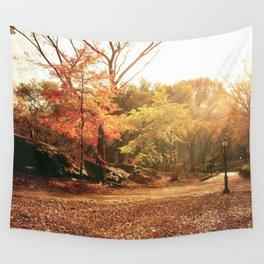 Autumn Sunlight - New York City Wall Tapestry