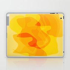 Orange Abstract Shapes Laptop & iPad Skin