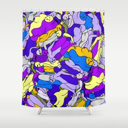 Sleeping Bodies - Ultraviolet Infusion Shower Curtain