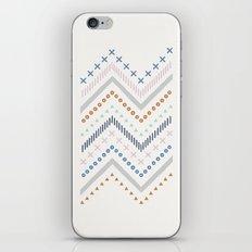 Mixed Zig Zag - in Cobalt iPhone & iPod Skin