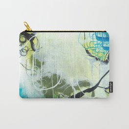 Everglades - Square Abstract Expressionism Carry-All Pouch