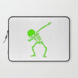 Dabbing Skeleton Green Laptop Sleeve