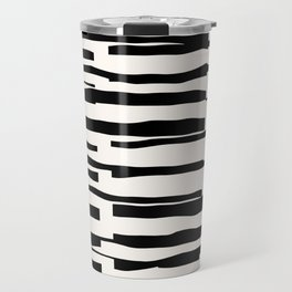 Organic No. 13 Black & Off-White #minimalism #decor #society6 Travel Mug