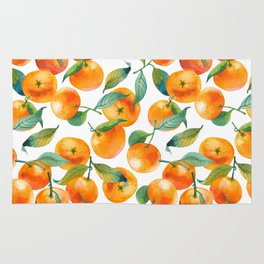 Mandarins With Leaves Rug