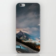 Banff at night iPhone & iPod Skin