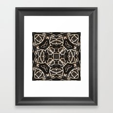 Four-sided Grey Pattern Framed Art Print