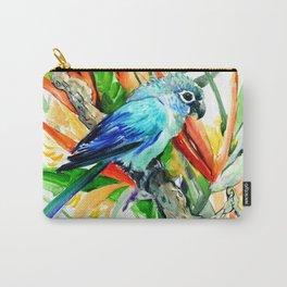 Tropical Foliage, Parrot Jungle floral design Carry-All Pouch