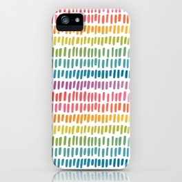 Rainbow Rectangle Pattern iPhone Case