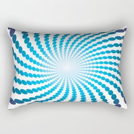 BLUE DOTS ON A WHITE BACKGROUNDAbstract Art Rectangular Pillow