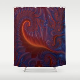 Into The Flames Shower Curtain